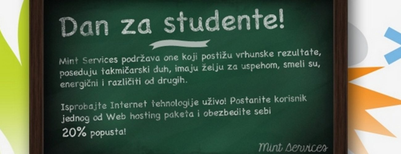 Popust za studente!