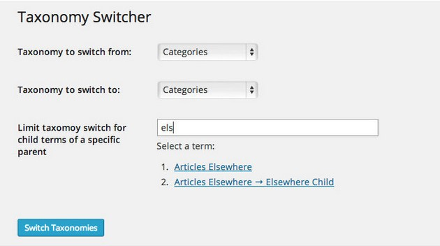 Taxonomy-Switcher-WP-plugin