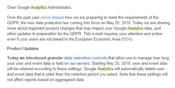 data retention google analytics gdpr