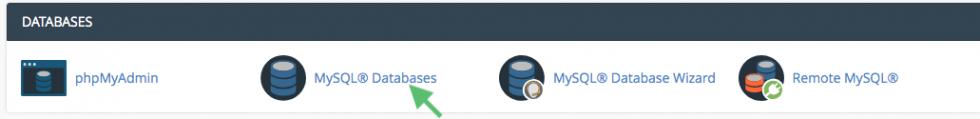 MySQL databases cpanel