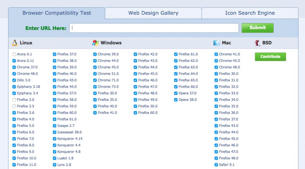 browsershots tool