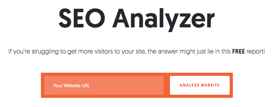 seo analyzer homepage