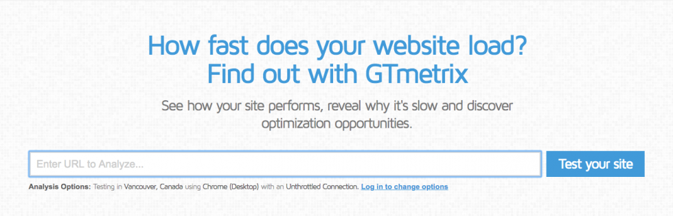 gmetrix homepage