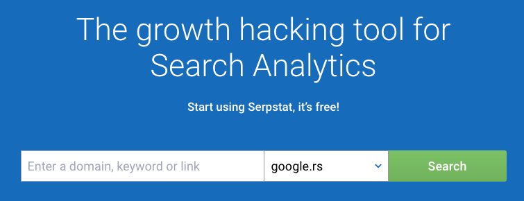 serp stat homepage