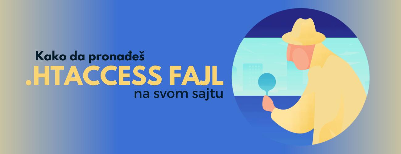 Kako da pronađete .htaccess fajl na svom WordPress sajtu