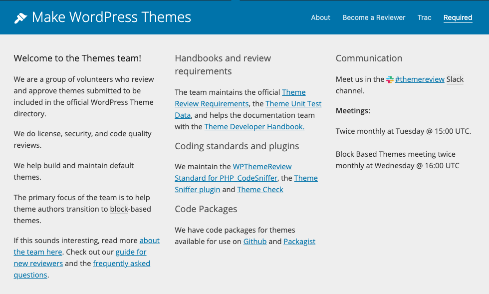 Wordpress themes review process