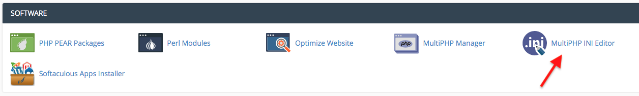php memory limit cpanel